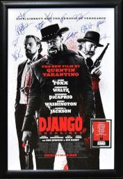 Django - Signed Movie Poster in Wood Frame with COA
