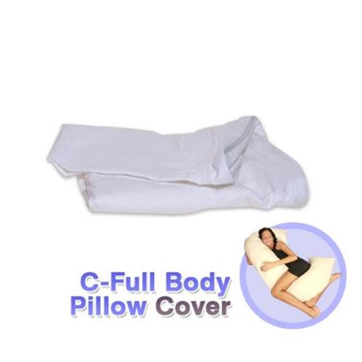 Living Healthy Products CPILC-002-01 C Full Body Pillow Cover in White