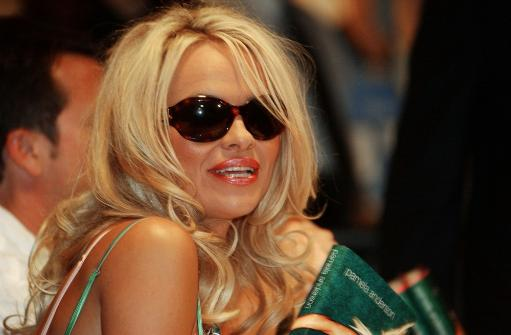 Pamela Anderson Signs Her New Book At The Wall Street Borders In New York, On August 3, 2004. Celebrity