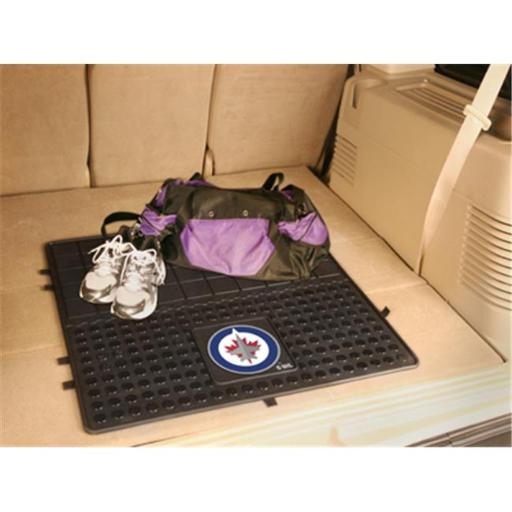 Fanmats 10960 NHL - 31 in. x31 in. - NHL - Winnipeg Jets Heavy Duty Vinyl Cargo Mat