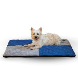 K&H Pet Products 4122 Blue / Gray K&H Pet Products Quilted Memory Dream Pad 0.5 Large Blue / Gray 37 X 52 X 0.5