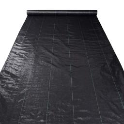 Yescom 6ft x 250ft Landscape Fabric 4.1oz Weed Barrier Woven PP with UV Treated Block Mat Ground Cover Outdoor Garden