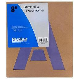 U.s. stamp & sign/ identi 108 painting stencil pack 8in alphabet
