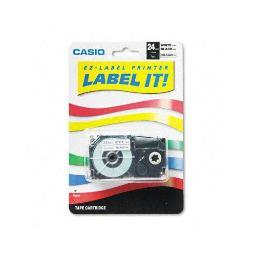 Casio-computer                      xr24wes              1pk label printer tape 24mm