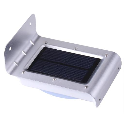 Yescom 5 Pack 16 LED Outdoor Solar-Powered Motion Sensor Light IP65 Waterproof Exterior Wireless Security Wall Lamp