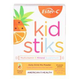 American Health Ester-C - Kid Stiks - Tropical Punch - 30 Packets