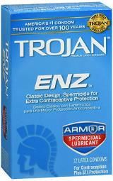 Trojan Enz Spermicidal Latex Condoms - 12ct CH93252