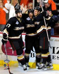 Andy McDonald / Dustin Penner / Ryan Getzlaf - 2007 Stanley Cup Photo Print PFSAAIK04001