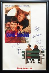 Dumb & Dumber - Signed Movie Poster in Wood Frame with COA