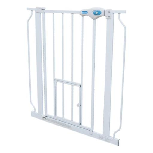 Carlson Pet Products CP00175 Extra Tall Walk-Thru Pet Gate with Pet Door, White