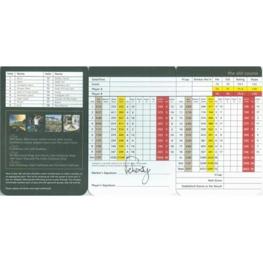 Autograph Warehouse 486914 David Feherty Autographed Scorecard - St. Andrews the Old Course Golf Club