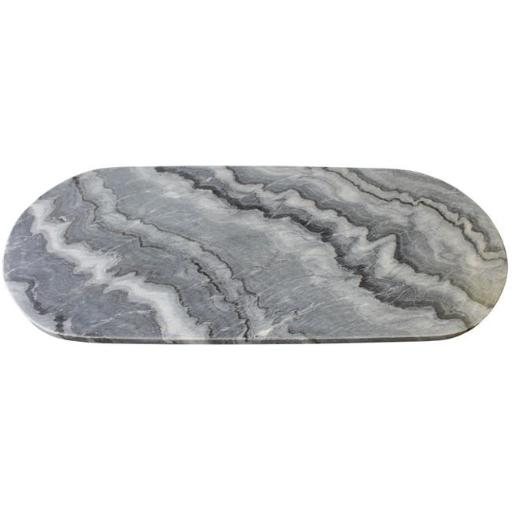Amber Home Goods ANC-006 Marble Oval Cheese and Cutting Board