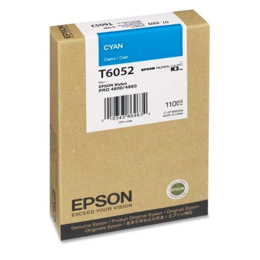 Epson Print T605200 Ultrachrome K3 Inks For Epson Stylus Pro 4800 And 4880 - Cyan 110Ml