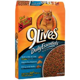 9 Lives 498080 9 Lives Dry Cat Food, 3.15 lbs