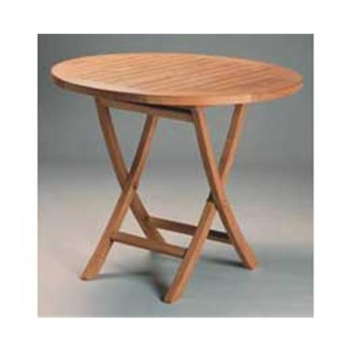 Anderson Teak TBF-035R 35 Inch Round Bistro Folding Table