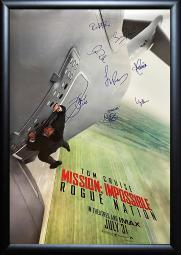 Mission Impossible Rogue Nation - Cast Signed Movie Poster Framed