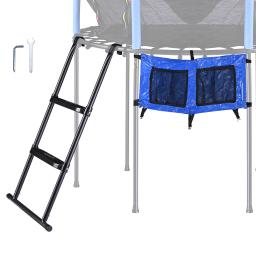 """Yescom 39"""" Trampoline Ladder Kit with Shoe Bag 2 Step Anti Skid for 12 to 15 Ft Bounce"""