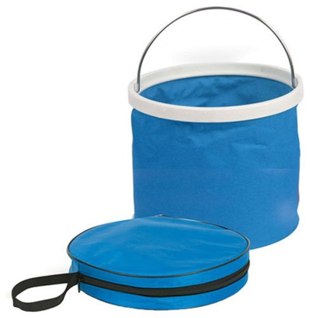 Camco 42993 Collapsible Bucket Blue & White
