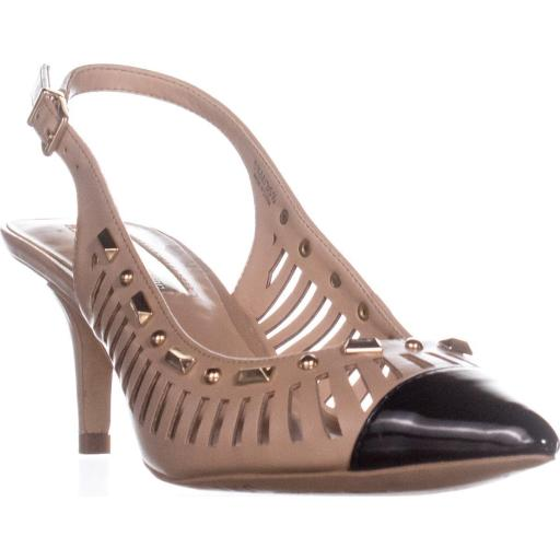 I35 Dehany Kitten Heels Pumps, Dark Almond