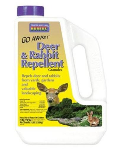 Bonide 227 Go Away Deer & Rabbit Repellent Granules, 3 Lbs