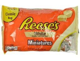 Reese's Peanut Butter Cups White Miniatures Chocolate
