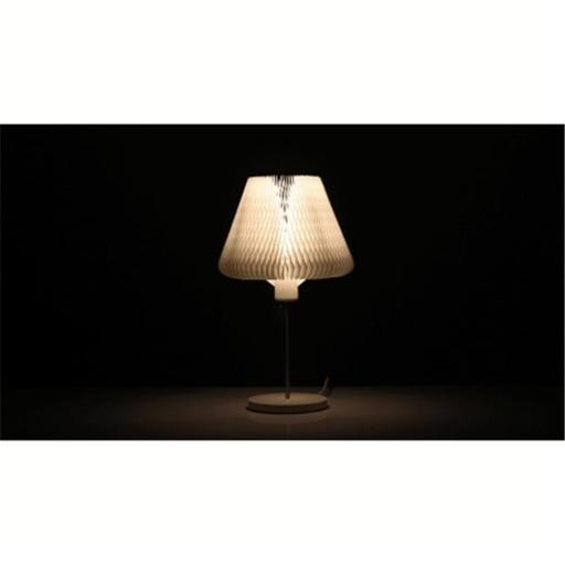 HSI ITM-L01 13 Different Shapes & Moods Creative Design PET Felt Lamp Shade Table Lamp Included LED Bulb, White