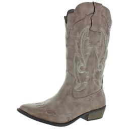 Coconuts by Matisse Womens Cimmaron Faux Leather Cowboy, Western Boots