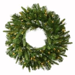 Vickerman A118325LED 24 in. Cashmere Wreath LED 50WmWht