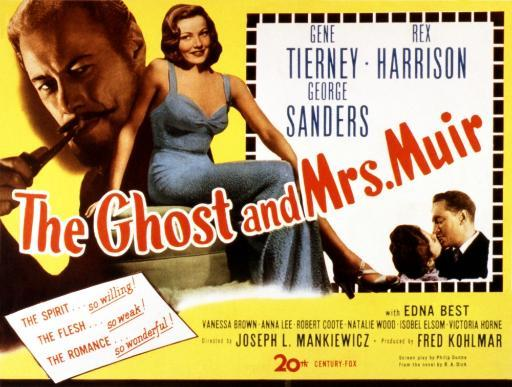 The Ghost And Mrs. Muir Poster Art Gene Tierney Rex Harrison 1947 Movie Poster Masterprint