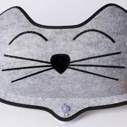 K&h pet products 9185 gray k&h pet products ez mount kittyface window bed gray 2