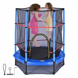 """Yescom 55"""" Mini Round Trampoline for Children Enclosure Net Safety Mat Home Exercise"""