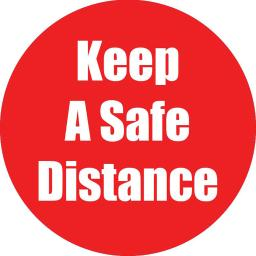 Flipside products keep a safe distance red anti-slip