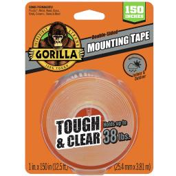 Gorilla Double Sided 1 in. W x 150 in. L Mounting Tape Clear - Case Of: 6;