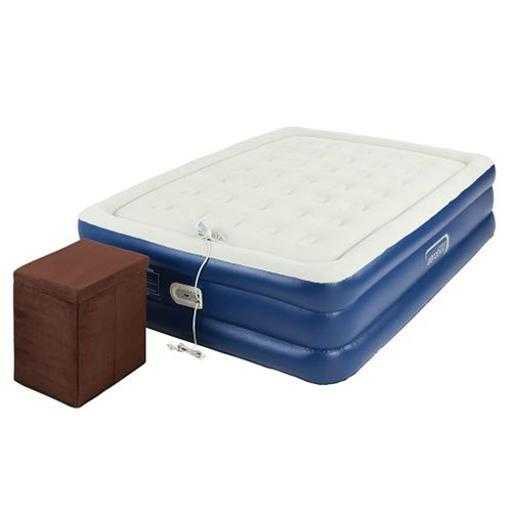 Aerobed 2000014113 Queen Raised Inflatable Air Bed Mattress with Ottoman