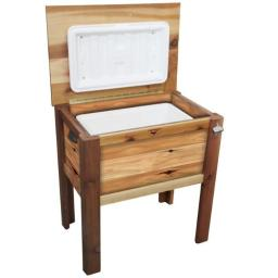 Western Red Cedar Cooler Chest w/Cover 32x21x35 - Finished