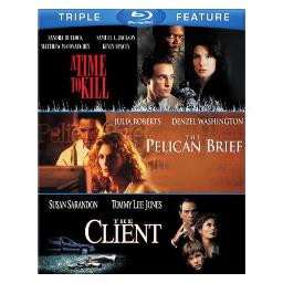 TIME TO KILL/PELICAN BRIEF/CLIENT (BLU-RAY/3FE) 883929406296