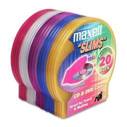 Maxell 190073 20pk disc case shells color