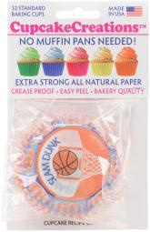 Standard Baking Cups Basketball 32/Pkg