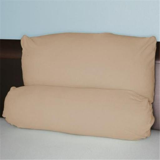 Living Health Products MLTPP-001-01 TAN PA Multi Position Pillow w/ extra Tan Micro Fiber Cover