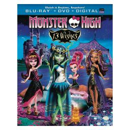 Monster high 13 wishes blu ray/dvd combo w/digital copy & ultraviolet BR63127469
