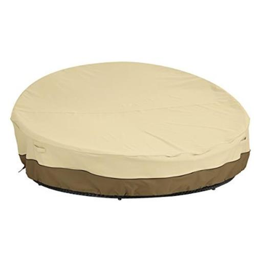 Classic Accessories 55-872-031501-00 Medium Large Outdoor Round Day Bed Cover, Pebble - Case of 4
