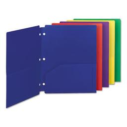Smead Manufacturing SMD87939 Poly Snap-in 2-Pocket Letter Folder, Assorted - Pack of 10