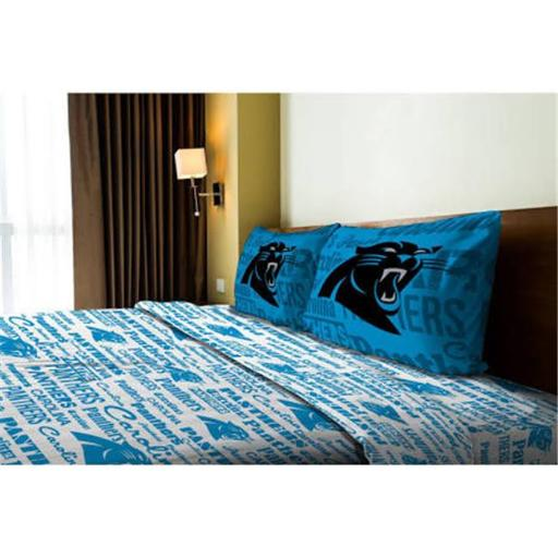 Northwest 1NFL-82101-0018-RET NFL - Carolina Panthers Anthem Full Bed Sheet Set
