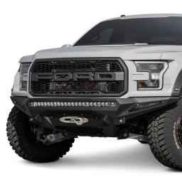 Addictive Desert ADDF111202860103 2017 Ford Raptor Stealth Fighter Full Width Black Front Winch HD Bumper