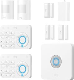 Ring Alarm Wireless Home Security 9 Piece Kit White Works with Alexa