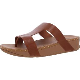 Fitflop Womens Marli Leather Slip-On Thong Sandals