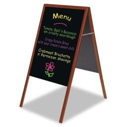 Mastervision DKT30505052 MasterVision Magnetic Wet Erase Board  27x34  Black  Cherry Wood Frame