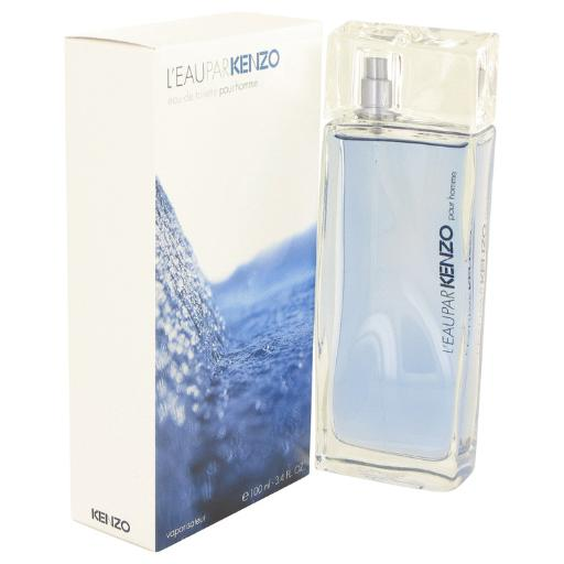 3 Pack L'EAU PAR KENZO by Kenzo Eau De Toilette Spray 3.4 oz for Men Launched by the design house of Kenzo in 1998, L\'Eau Par Kenzo is classified as a sharp, fruity fragrance. This masculine scent possesses a blend of a watery floral with low notes of vanilla. It is recommended for daytime wear.