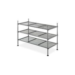 Whitmor 6740-4579 mesh shelves 3tier gunmetal