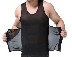 3-in-1 Men Compression and Posture Corrector Shirt with Slimming Belt for Men